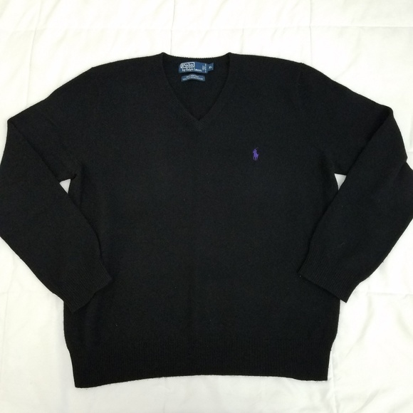 3207f536026 Polo Ralph Lauren V Neck Sweater Mens XL Lambswool.  M 5b51cea98ad2f9035e1a5ee8